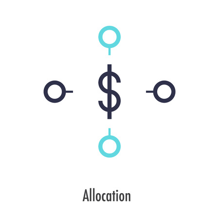 Allocation icon design. vector symbol. Ilustrace