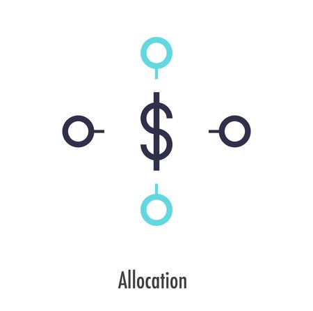 Allocation icon design. vector symbol. Illustration