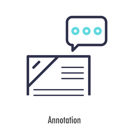 Annotation icon business concept. vector illustration. Иллюстрация
