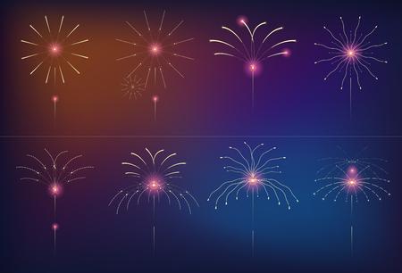 Feier Feuerwerk Design. Einfache Feuerwerksdekorationsillustration. Standard-Bild - 91933397