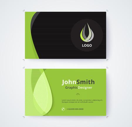 Visitenkarteschablone für kommerzielle Design auf weißem Hintergrund Standard-Bild - 93072572