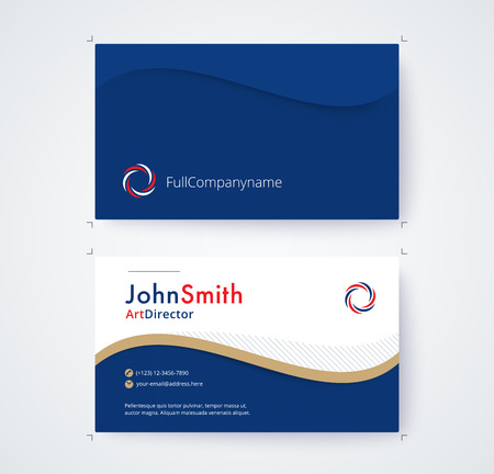 Visitenkarteschablone für kommerzielle Design auf weißem Hintergrund Standard-Bild - 93072573