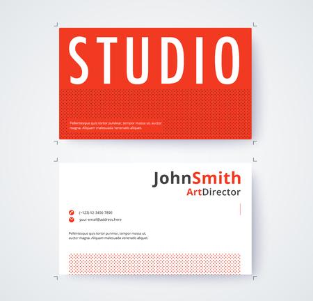 Visitenkarteschablone für kommerzielle Design auf weißem Hintergrund . Vektor-Illustration Standard-Bild - 93072840