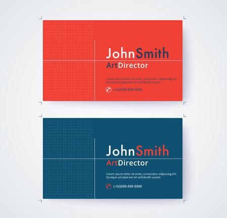 Visitenkarteschablone für Handelsdesign auf weißem Hintergrund. Standard-Bild - 93072578