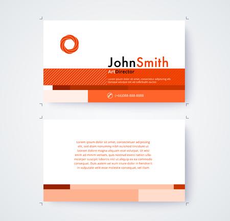 Visitenkarteschablone für kommerzielle Design auf weißem Hintergrund . Vektor-Illustration Standard-Bild - 93072713