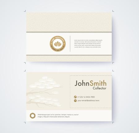 Visitenkarteschablone für kommerzielle Design auf weißem Hintergrund Standard-Bild - 93072579