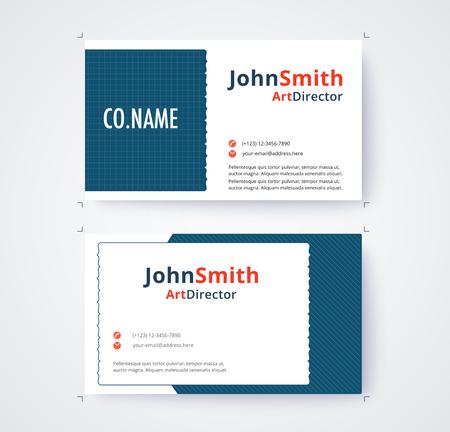 Visitenkarteschablone für kommerzielle Design auf weißem Hintergrund . Vektor-Illustration Standard-Bild - 93072714