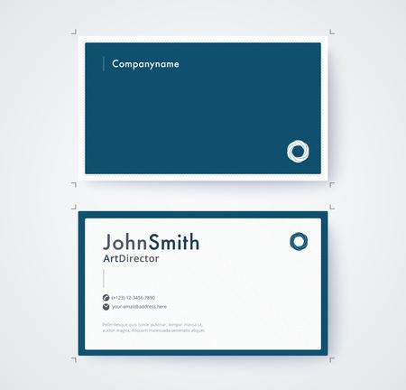 Visitenkarteschablone für kommerzielle Design auf weißem Hintergrund Standard-Bild - 93072580