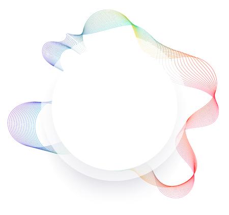 Fluid frame line design. Modern line transform. vector illustration. 矢量图像