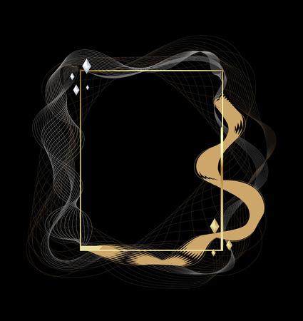 Fließendes Design der Rahmenlinie. Moderne Linienumwandlung. Vektor-Illustration. Standard-Bild - 93937731