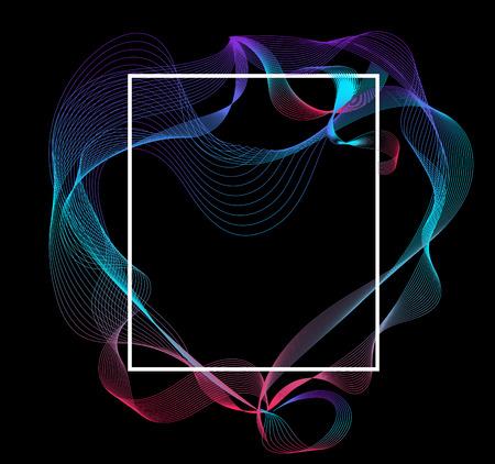 Fluid frame line design. Modern line transform. vector illustration. Vettoriali