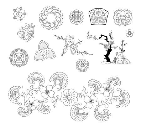 Asiatisches traditionelles Design Standard-Bild - 93981145