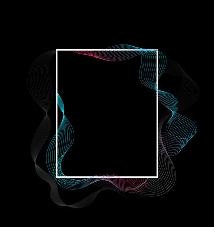 Fließendes Design der Rahmenlinie. Moderne Linienumwandlung. Vektor-Illustration. Standard-Bild - 93938016