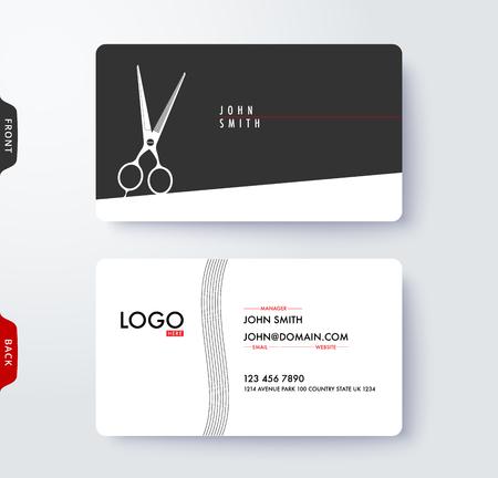 Business card template Ilustracja