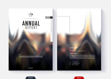 Annual report cover template collection design for business document page and book. Illusztráció