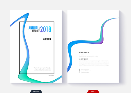 Annual report cover template design for business document page and book. Standard-Bild - 96836571