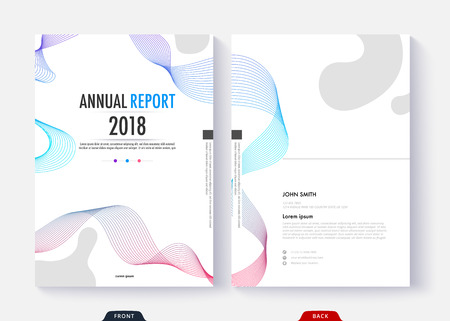 Annual report cover template design for business document page and book. Standard-Bild - 96836576