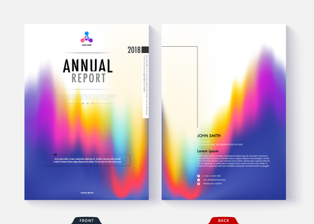 Annual report cover template collection design for business document page and book. Standard-Bild - 96836575