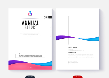 Annual report cover template design for business document page and book. Simple cover design page.