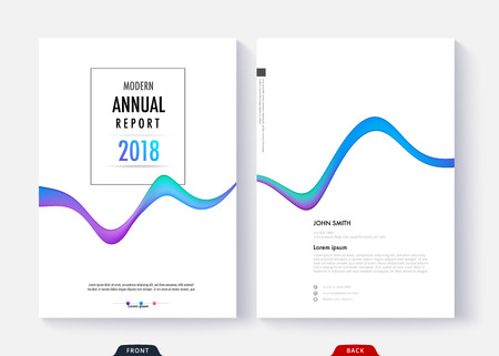 Annual report cover template design for business document page and book. Simple cover design page. Standard-Bild - 97368684