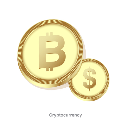 Bitcoin exchange currency. Cryptocurrency exchange concept.