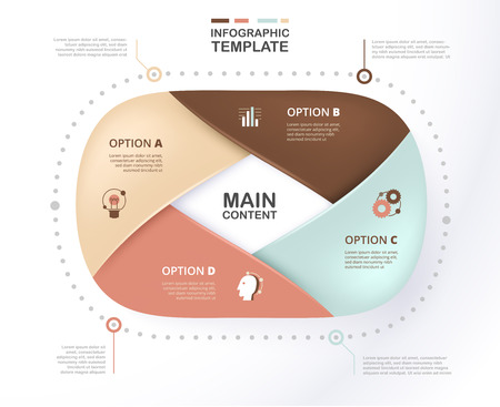 Infographic template for business presentation with soft color. Layered option sample content. Standard-Bild - 97368691
