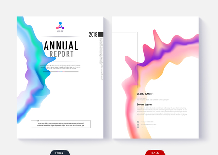 Annual report cover template collection design for business document page and book. Simple cover design page. Standard-Bild - 97370463