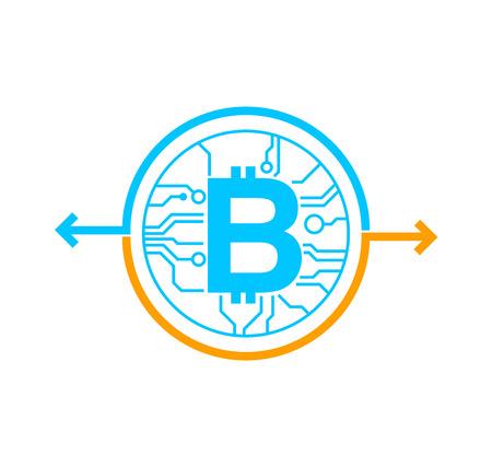 Bitcoin exchange money concept. vector illustration
