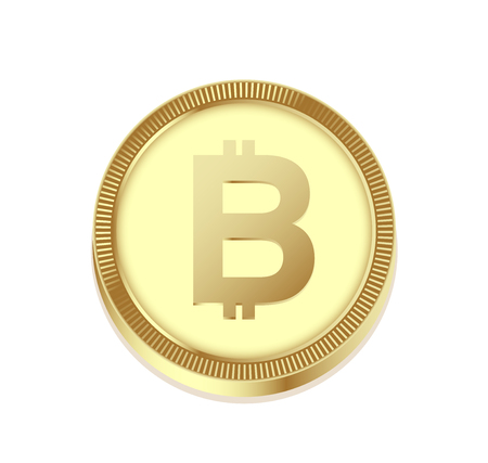 Bitcoin symbol on green Casino Chip isolated on white. Bitcoin sign on a circle button. Financial risk, gambling concept. Standard-Bild - 97370468