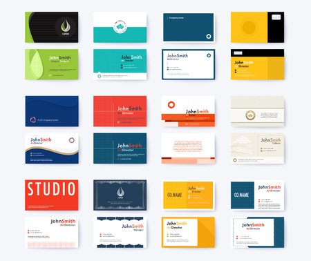 Business card template abstract concept and commercial design. vector illustration Standard-Bild - 97370470