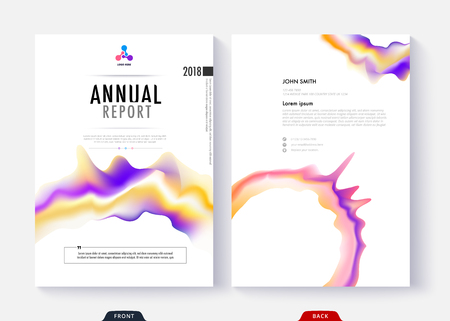 Annual report cover template collection design for business document page and book. Simple cover design page. Standard-Bild - 97370471