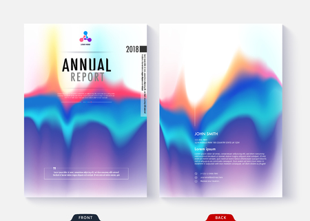 Annual report cover template collection design for business document page and book. Simple cover design page. Standard-Bild - 97370472