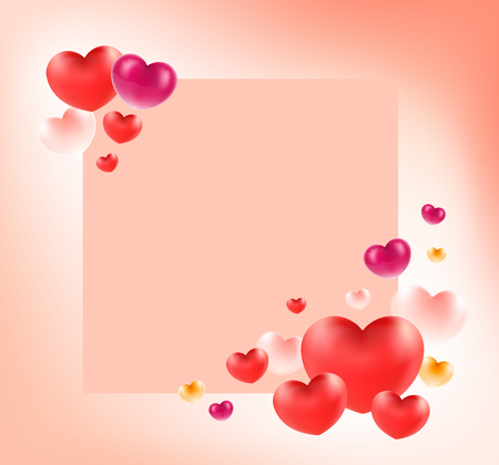 Happy valentine's day word on white heart. Group of heart background.