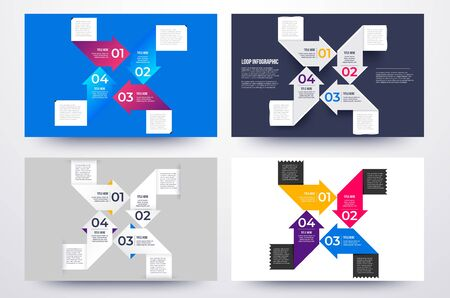 4 ways infographic business solution for presentation.
