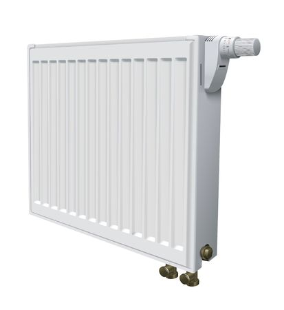 warmly: metall radiator for panel heating of house vector illustration Stock Photo