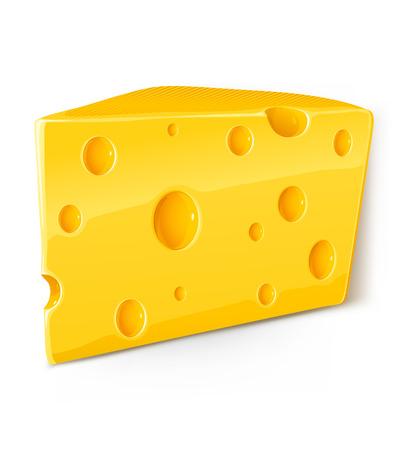 parmigiano: vettoriale pezzo di formaggio alimentari isolati su sfondo bianco