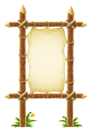 impiccata: vecchia pelle firmare su supporto in legno