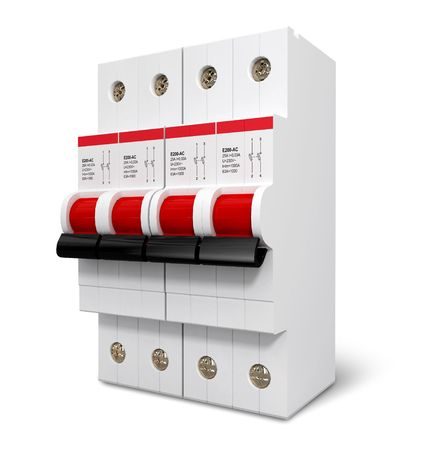 Automatic electricity switcher 3d model isolated