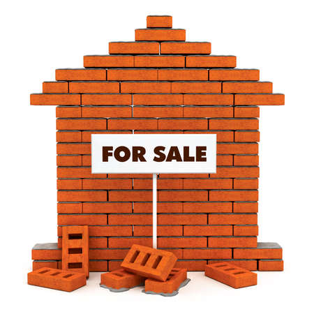 flat wall from a brick with cement for sale 3d model photo