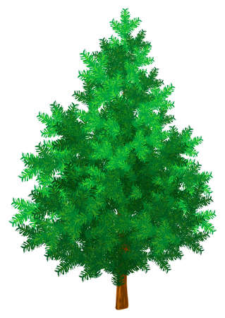 New year tree green vector illustration rasterised illustration