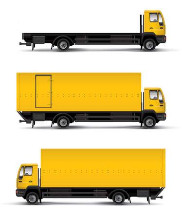 lorry: Camion auto modello illustrazione vettoriale su sfondo bianco