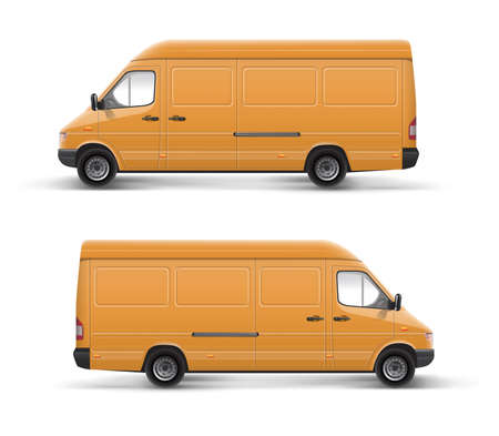 Car furgon vector illustration template over white  illustration