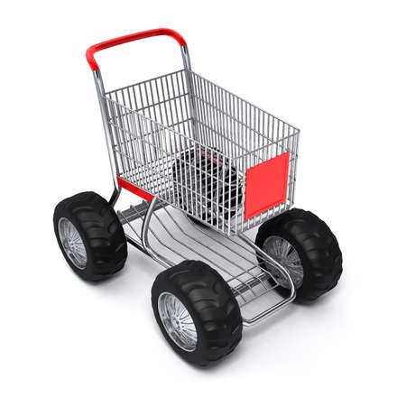 counter service: Shopping cart shop commerce turbo speed Stock Photo