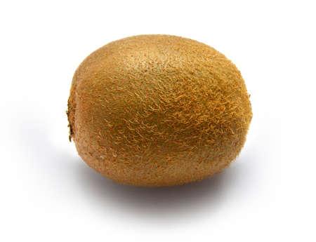 sweetness: Ripe large natural fruit of kiwi on a white background      Stock Photo