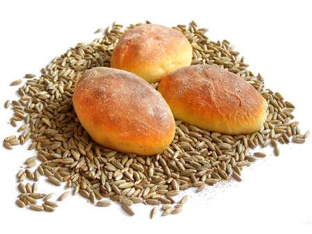 fresh crisp delicious fragrant patties in a wheat Stock Photo - 1655855