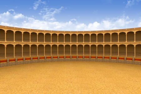 Ancient coliseum corrida arena empty 3d model Stock Photo