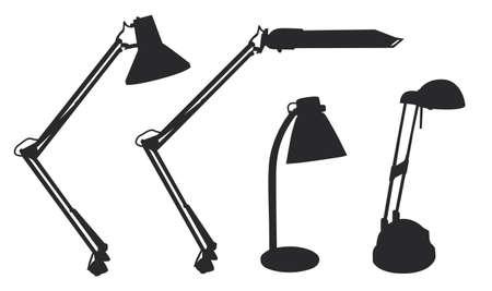 Table lamp shapes vector illustration rasterized black Stock Illustration - 1686678