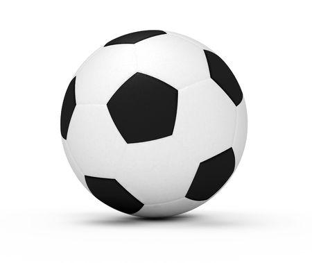 sport soccer ball isolated 3d model illustration Imagens