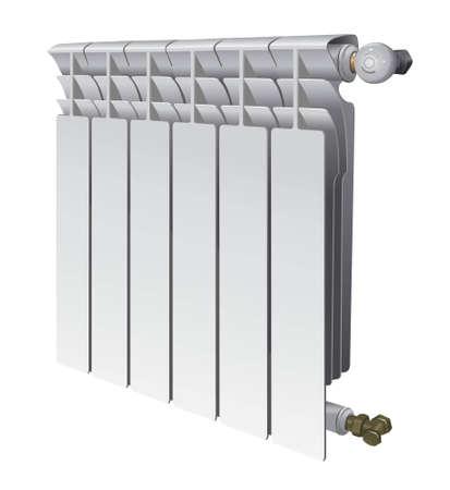 metall Heizkörper für Flächenheizung von Haus Vektor-Illustration