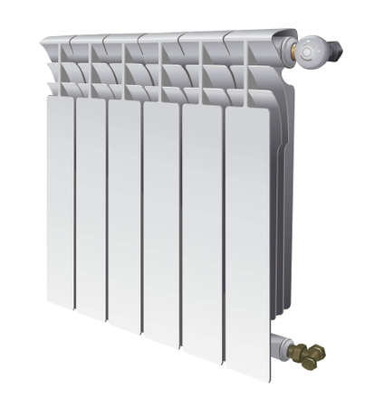 metall radiator for panel heating of house vector illustration